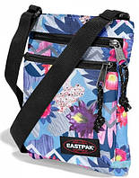 Яркая сумка на плече EastPak - Rusher Purple Word EK08917L