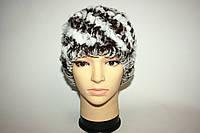 Женская шапка из вязаного меха рекса, фото 1