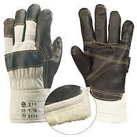 Перчатки рабочие, кожа с х/б, утепленные. Размер 10