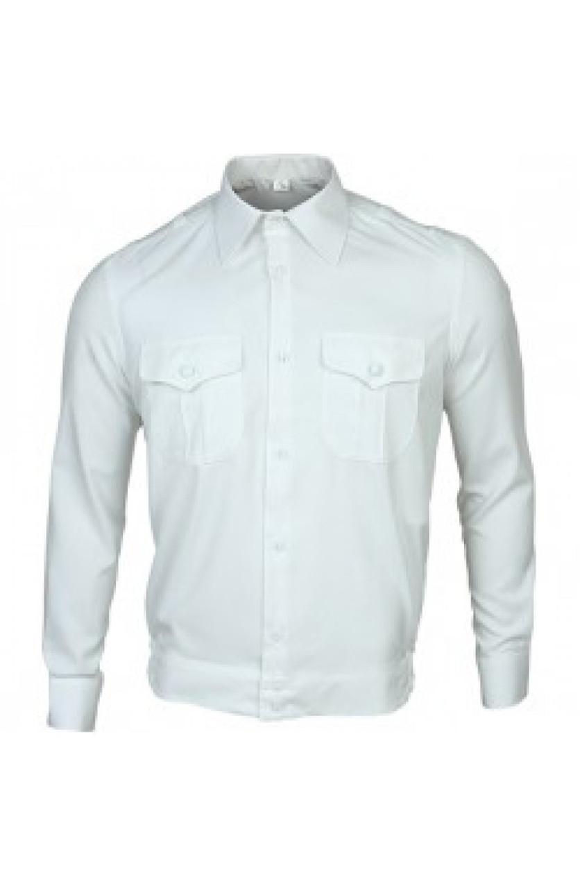 Форменная рубашка длинный рукав белая