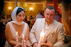 Три свадебные свечи на свадьбе наших клиентов.