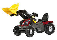 Трактор педальный с ковшом Rolly Toys Farmtrac Valtra красный