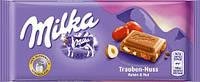 Молочный шоколад Milka Trauben-Nuss Schokolade 0.100 гр