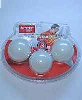 Шарики для настольного тенниса белые 3-STAR