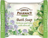 """GREEN PHARMACY"" Туалетное мыло Вербена и лайм с оливковым маслом/Bath soap VERBENA and  LIME with olive oil"
