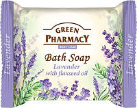 """GREEN PHARMACY"" Туалетное мыло Лаванда с маслом льна/Bath soap Lavander with flaxseed oil"
