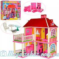 Дoмик для кукoл Барби My Lovely Villa 6980: 2 этажа + 5 комнат + мебель