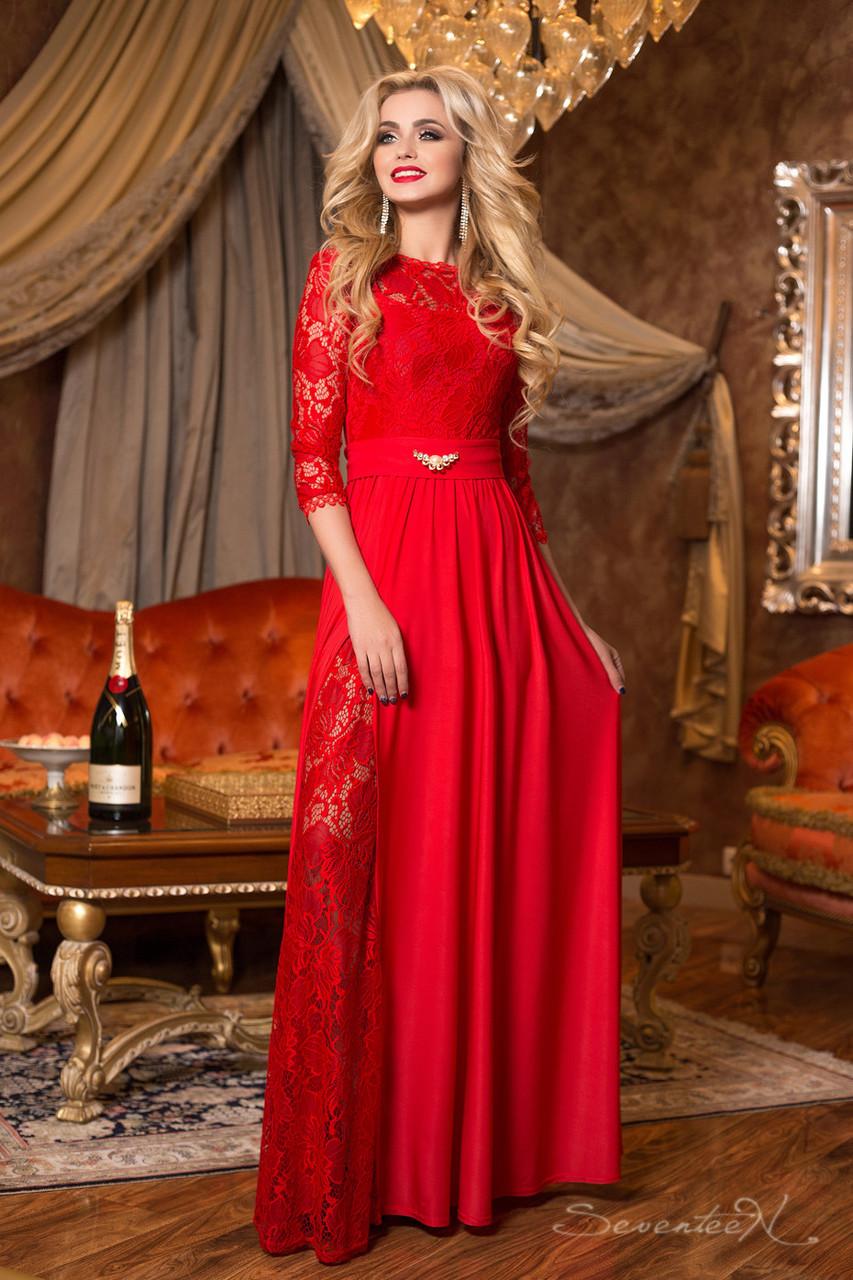 99d9c5dcd73 Красное элегантное вечернее платье 1982 Seventeen 44-50 размеры -  Интернет-магазин одежды