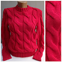 """Объёмный свитер """"Мыс"""", красный"""
