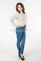 Женская короткая кофта р.44-46 цвет молочный 22-1