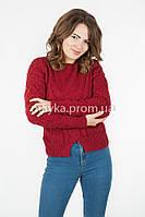 Женская короткая кофта р.44-46 цвет марсала 22-7