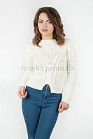 Женская короткая кофта р.44-46 цвет молочный 22-5