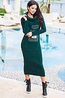 """Модное зеленое платье из ангоры """" Шанель """". Арт-9180/57"""