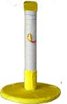 Когтеточка (9 цветов), сизаль, 55 см х Ø35 см  жёлтый