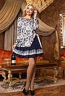 Милое женское трикотажное  платье с принтом 1962  Seventeen  44-50  размеры