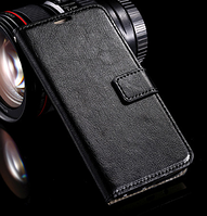 Кожаный чехол-книжка для Samsung Galaxy S6 черный
