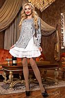 Стильное женское серое  платье с принтом 1961  Seventeen  44-50  размеры