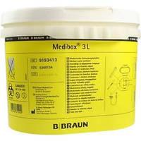 Контейнер для сбора иголок и медицинских отходов(Медибокс 3л)