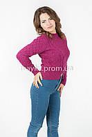 Женская короткая кофта р.44-46 цвет рубиновый 22-3