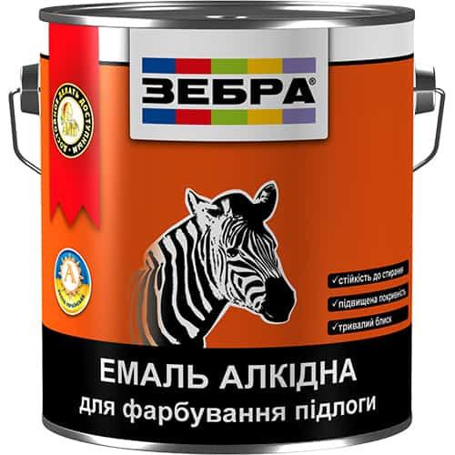 Алкидная эмаль для пола ПФ-266 Зебра (желто-коричневая)
