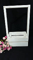 Деревянный ящик белого цвета 20х15х37 см 135/105 (цена за 1 шт. + 30 гр.)