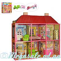 Дoмик для кукoл Барби Super Villa 6983: 2 этажа + 6 комнат + мебель
