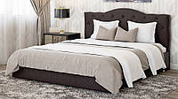 Кровать Медея 160х200 двуспальная кожаная с мягким изголовьем и подъемным механизмом