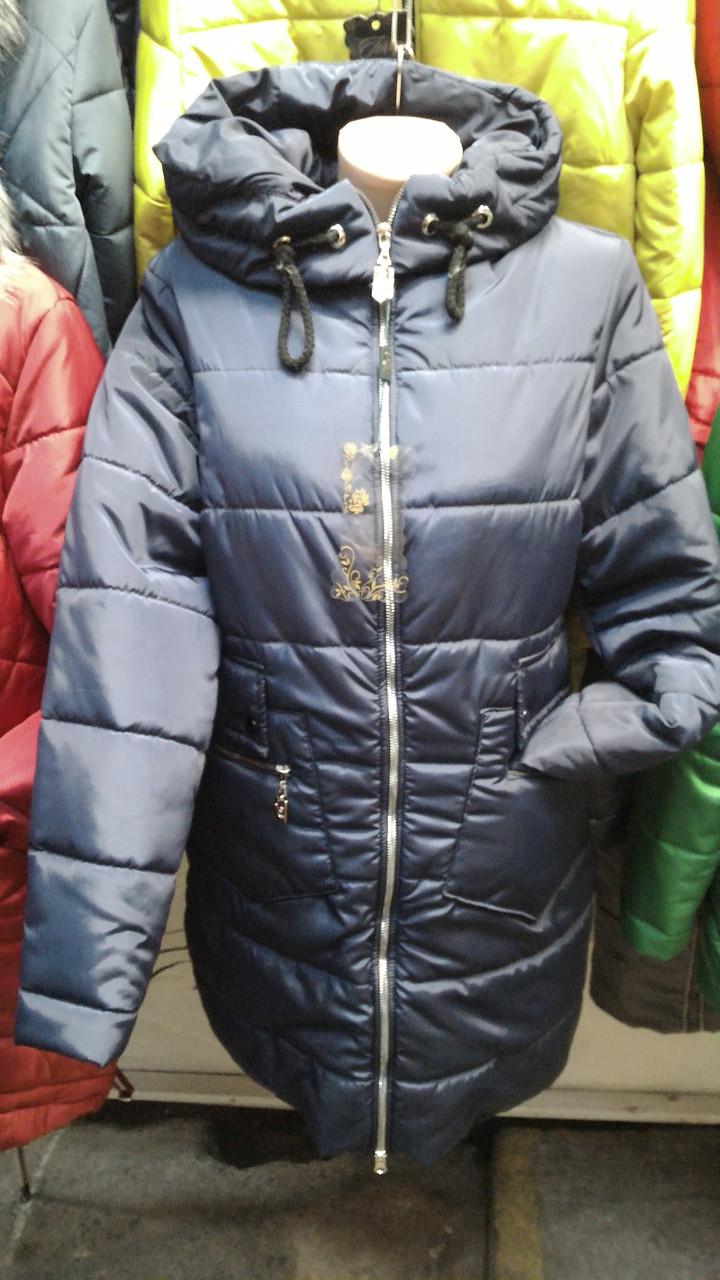 Женское зимнее пальто на холлофайбере, Пентагон синего цвета