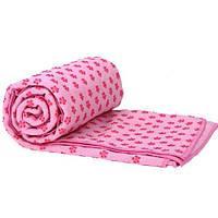 Коврик-полотенце для йоги Yoga Mat Towel FI-4938-3 розовый