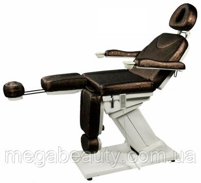 Педикюрно -косметологическое кресло премиум класса 3-мя электроматорами ZD-848-3А
