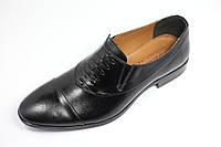 Коричневые мужские туфли с имитацией шнурка