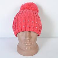 Модна жіноча в язана шапка з помпоном 1f1c29a1eb156