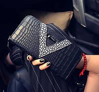 Элегантный черный женский кошелек на молнии, фото 1