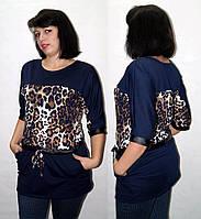 Модная красивая женская туника лео, размеры норма и батал, индивидуальный пошив