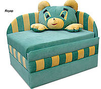 Диван детский Панда мех., выкатной без подушки, ткань Ягуар зеленый