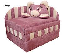 Диван детский Панда мех., выкатной без подушки, ткань Ягуар розовый