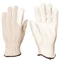 Строительные перчатки, кожаные. Размер 10, 11