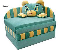 Диван детский Панда мех., выкатной с подушкой, ткань Ягуар зеленый