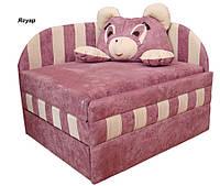 Диван детский Панда мех., выкатной с подушкой, ткань Ягуар розовый