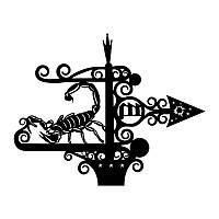 """Декоративый флюгер знак зодиака """"Скорпион"""""""