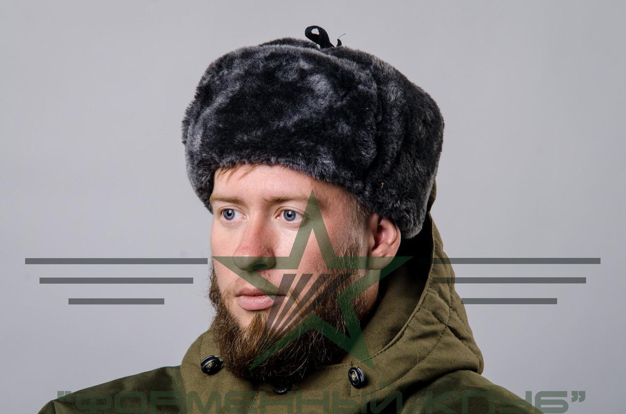 Шапка-ушанка военная мех (искусственный)