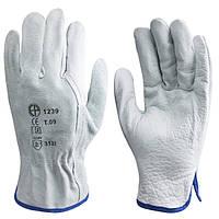Перчатки для строителей, кожаные. Размер 10, 11