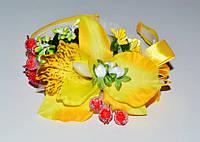 Обруч для волос, желтый, букет цветов 21_4_33