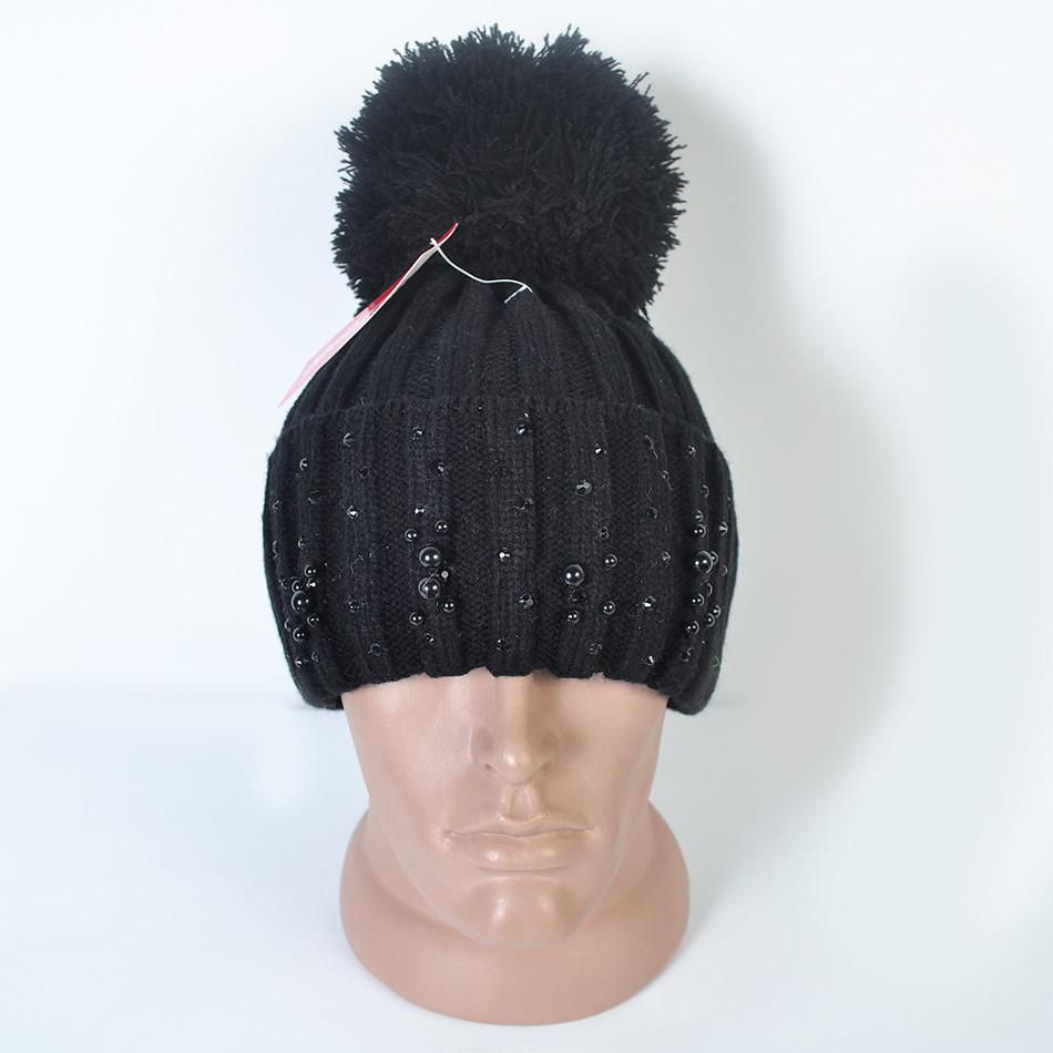 Модна жіноча в язана шапка з помпоном на флісі - Камала в Хмельницком bb765fcef52ba