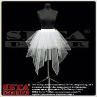 Белая юбка Зима из фатина с блестками