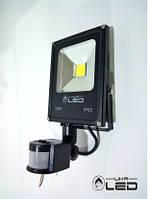 Светодиодный прожектор с датчиком движения 20Вт 6500К UkrLed