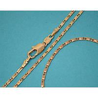 Набор:цепочка длинна 61 см.ширина 2 мм. и браслет длинна 21 см.ширина 2 мм. Позолота с красным  оттенком.