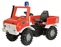 Автомобиль педальный Rolly toys Пожарная машина Rolly Farm Trac красный