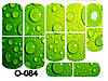 Слайдер дизайн (водная наклейка) для ногтей О-084