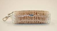 Чехол для ключей кожаный ключница на змейке бежевая Desisan 207 Турция, фото 1